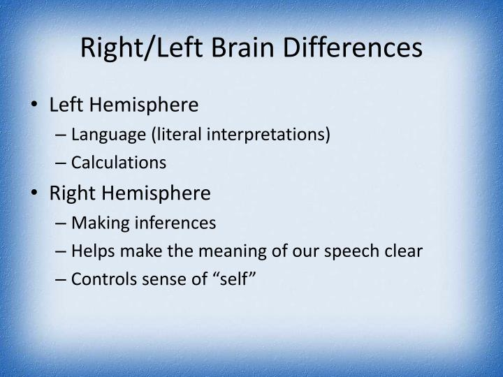 Right/Left Brain Differences