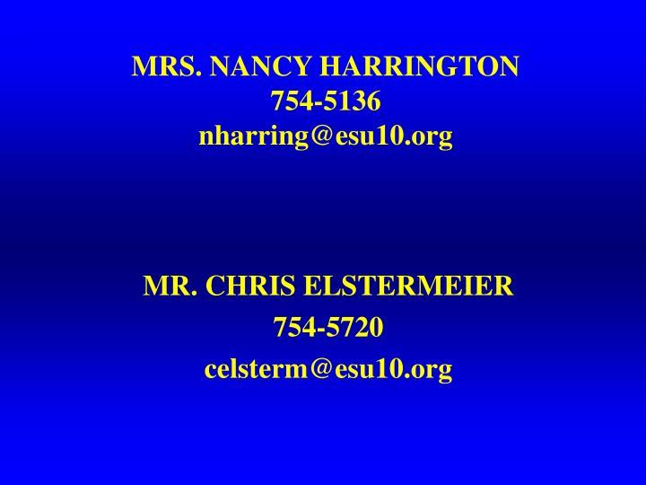 MRS. NANCY HARRINGTON