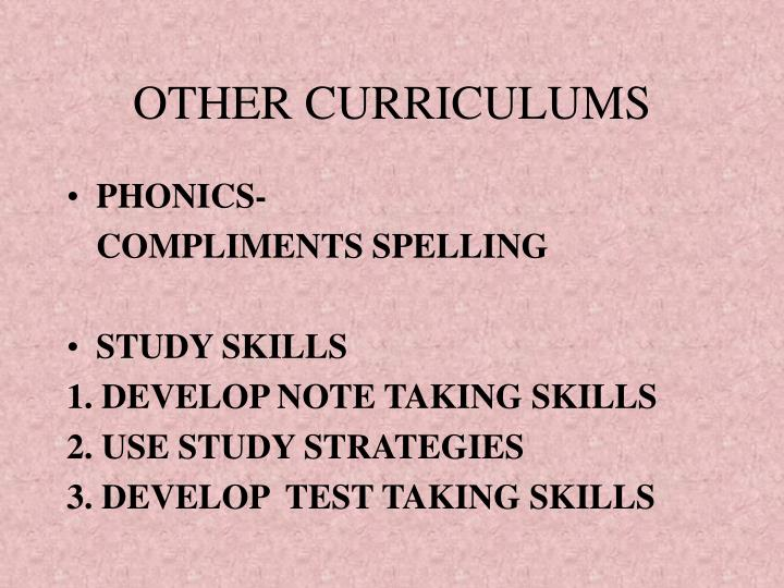 OTHER CURRICULUMS