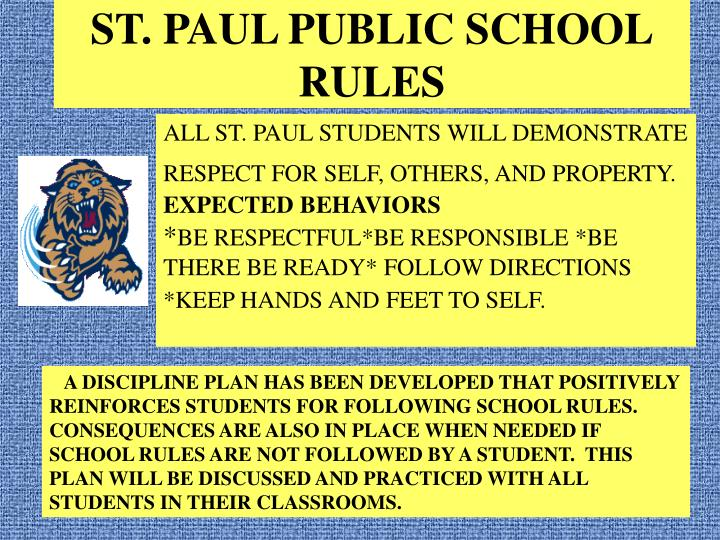ST. PAUL PUBLIC SCHOOL