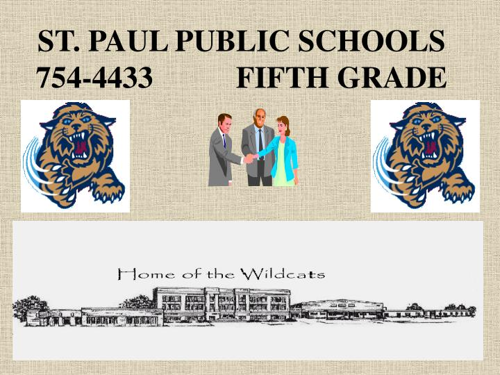 St paul public schools 754 4433 fifth grade