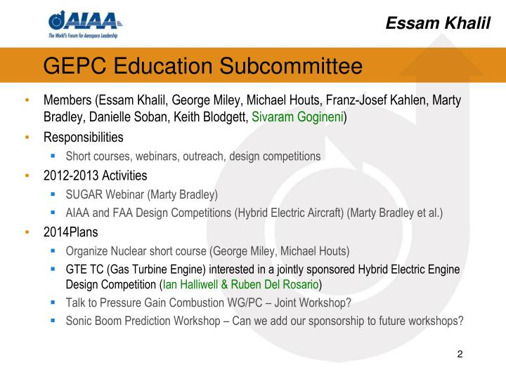 Gepc education subcommittee