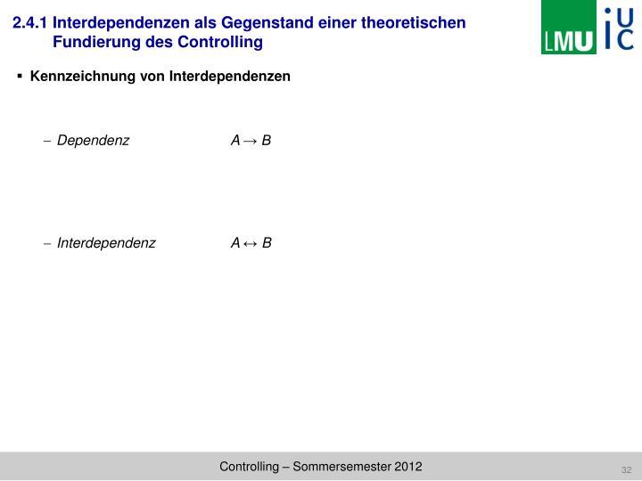 Kennzeichnung von Interdependenzen