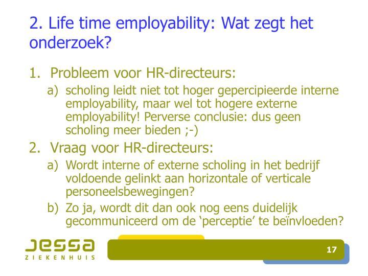 2. Life time employability: Wat zegt het onderzoek?