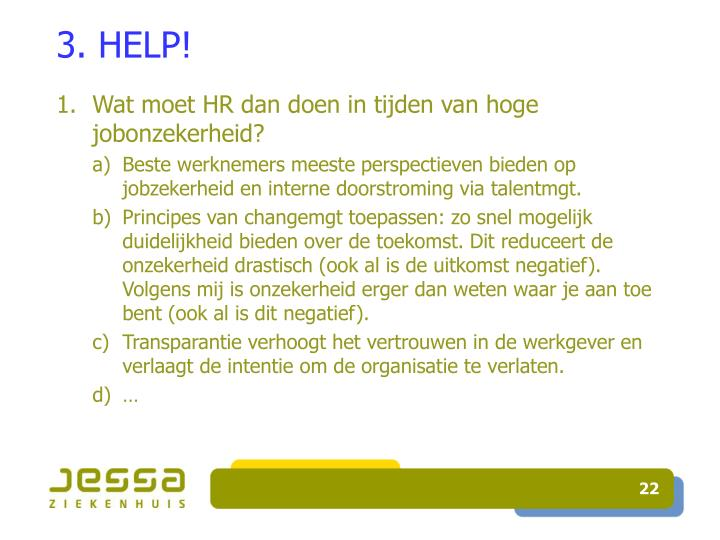 3. HELP!