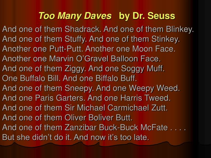 Too Many Daves