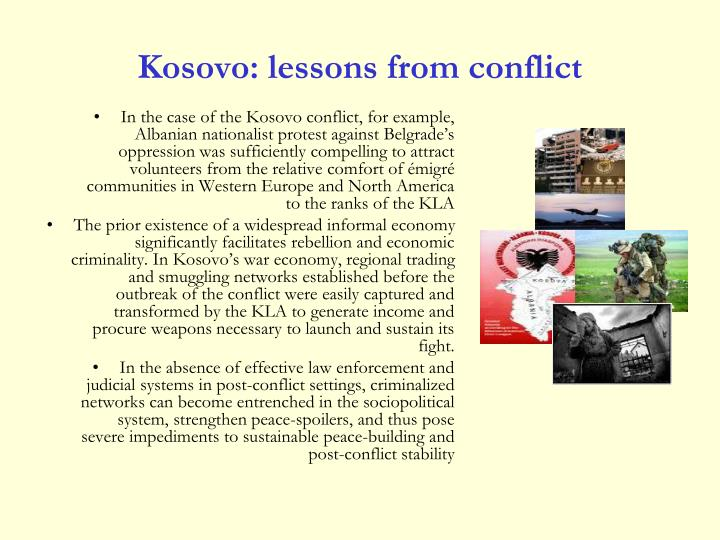 Kosovo: lessons from conflict