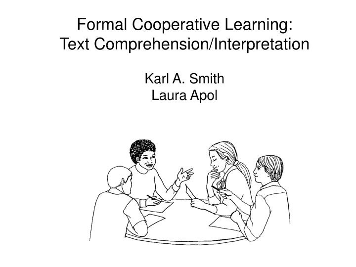 Formal Cooperative Learning: