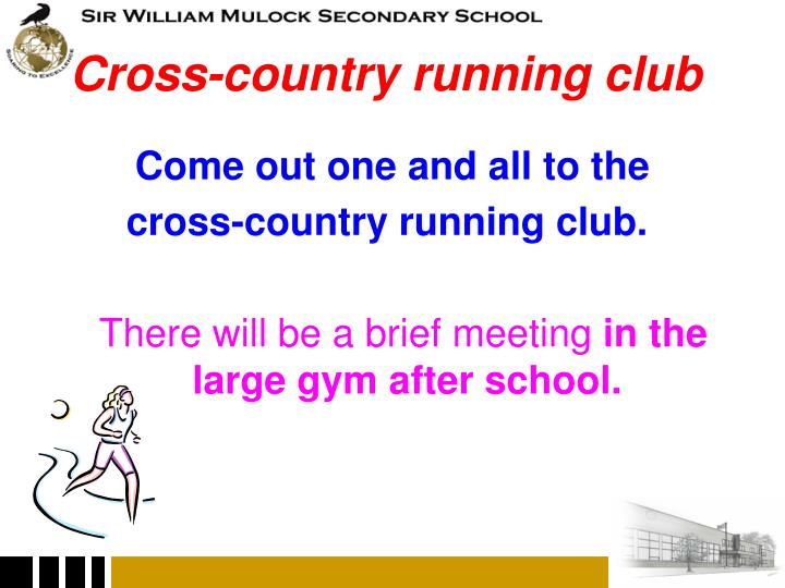 Cross-country running club