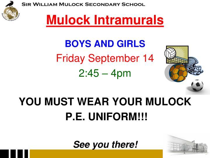 Mulock Intramurals