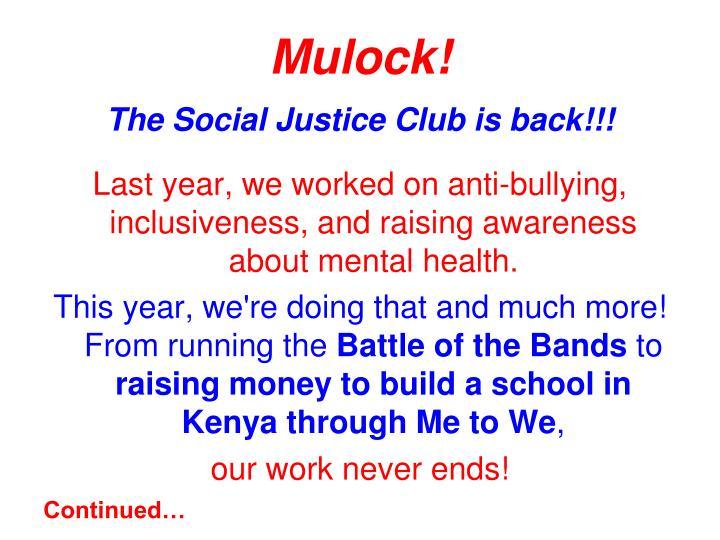 Mulock!