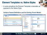 element templates vs native styles