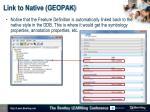 link to native geopak3
