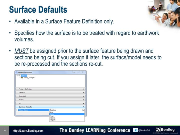 Surface Defaults