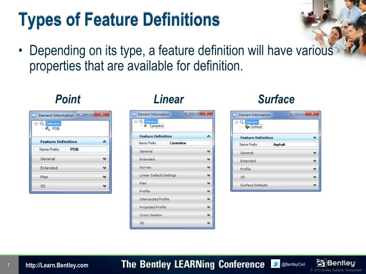 Types of Feature Definitions
