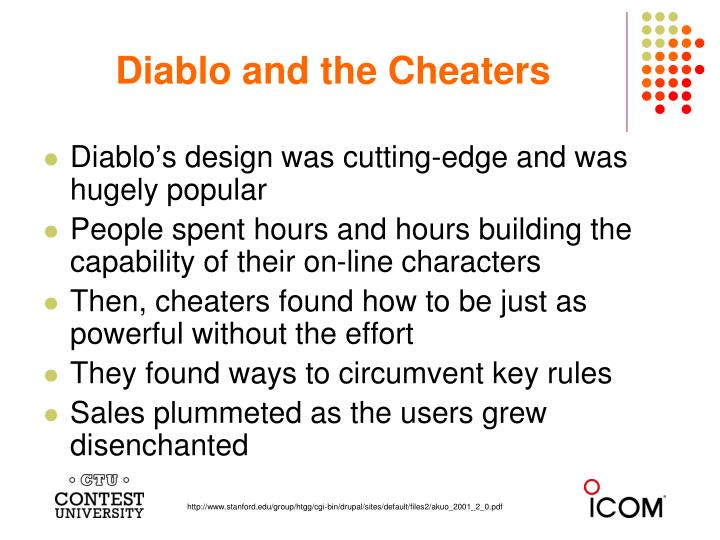 Diablo and the Cheaters