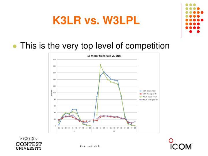 K3LR vs. W3LPL
