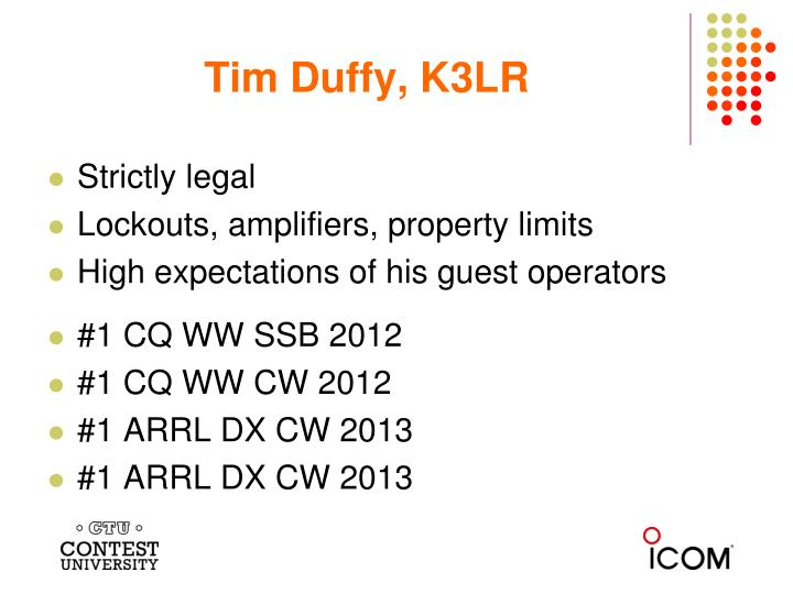 Tim Duffy, K3LR