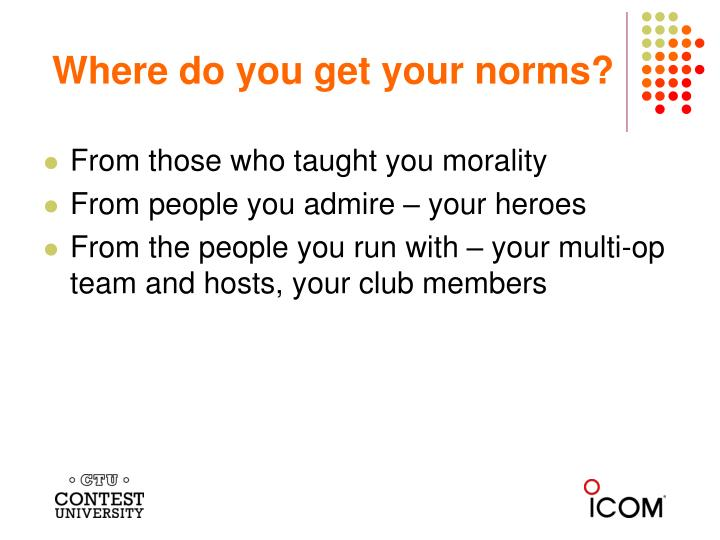 Where do you get your norms?