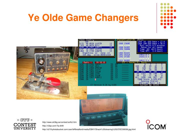 Ye Olde Game Changers