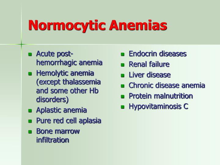 Acute post-hemorrhagic anemia