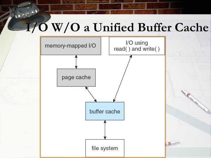 I/O W/O a Unified Buffer Cache