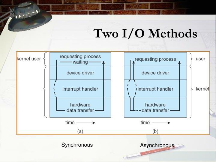 Two I/O Methods