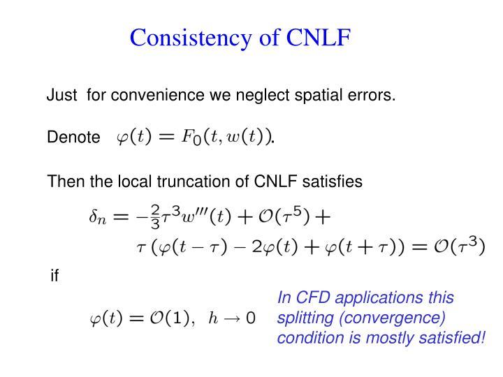 Consistency of CNLF