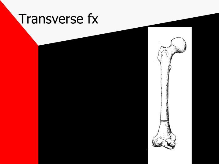 Transverse fx