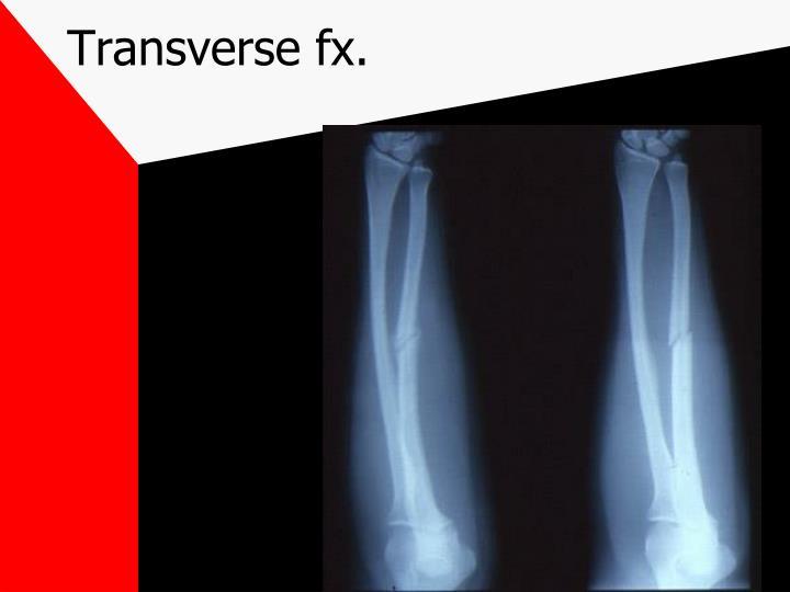 Transverse fx.