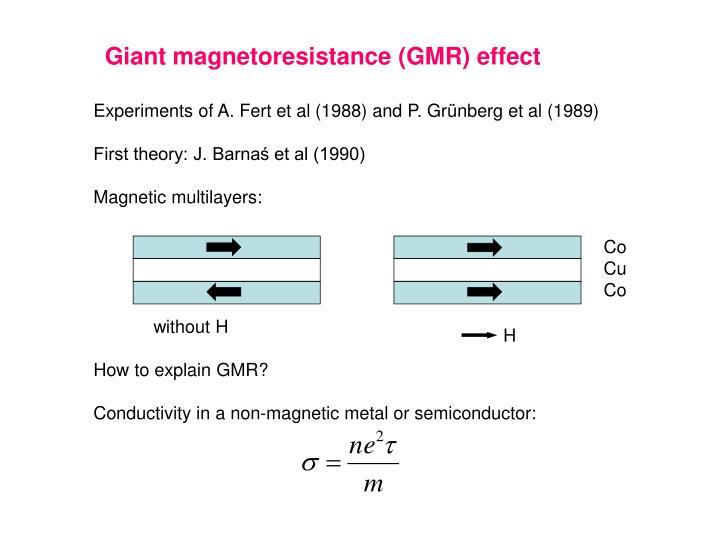 Giant magnetoresistance (GMR) effect