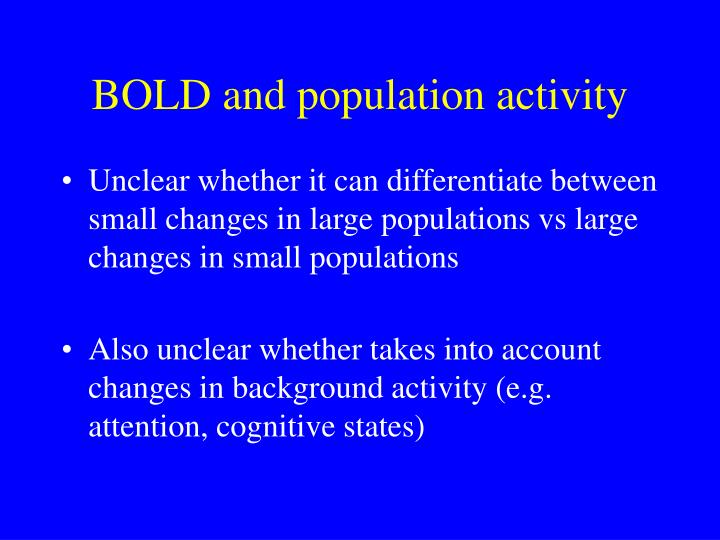 BOLD and population activity