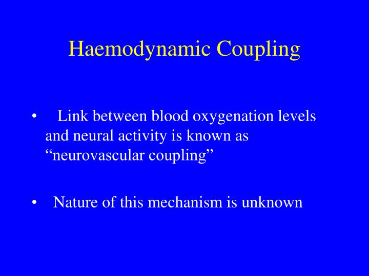 Haemodynamic Coupling