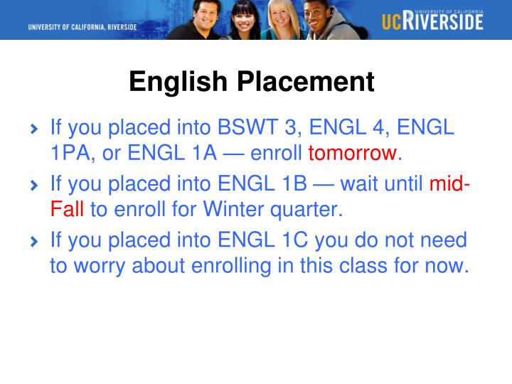 English Placement