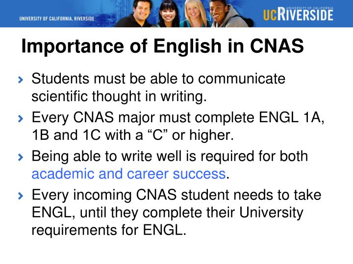 Importance of English in CNAS