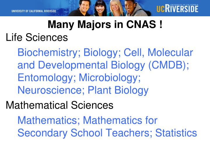 Many Majors in CNAS !