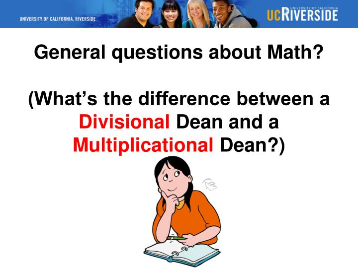 General questions about Math?