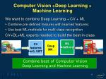 computer vision deep learning machine learning