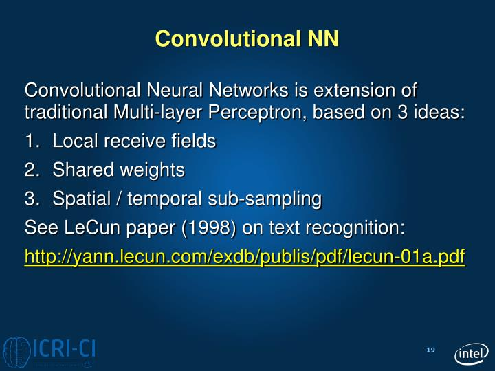 Convolutional NN