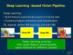 deep learning based vision pipeline