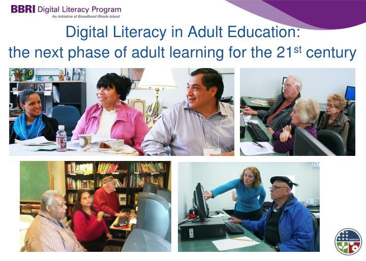 Digital Literacy in Adult Education: