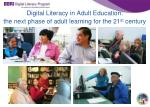 digital literacy in adult education the next phase of adult learning for the 21 st century