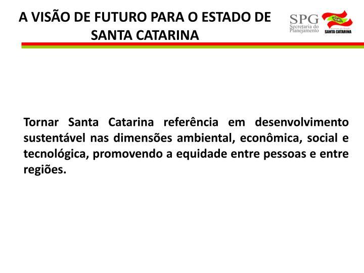 A VISÃO DE FUTURO PARA O ESTADO DE SANTA CATARINA