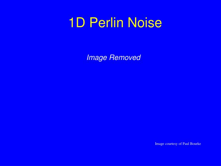 1D Perlin Noise