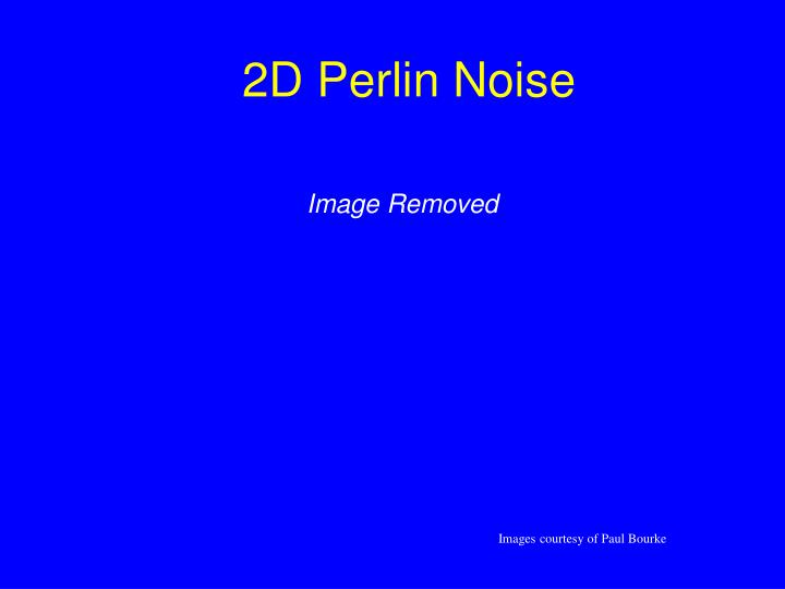 2D Perlin Noise