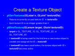 create a texture object