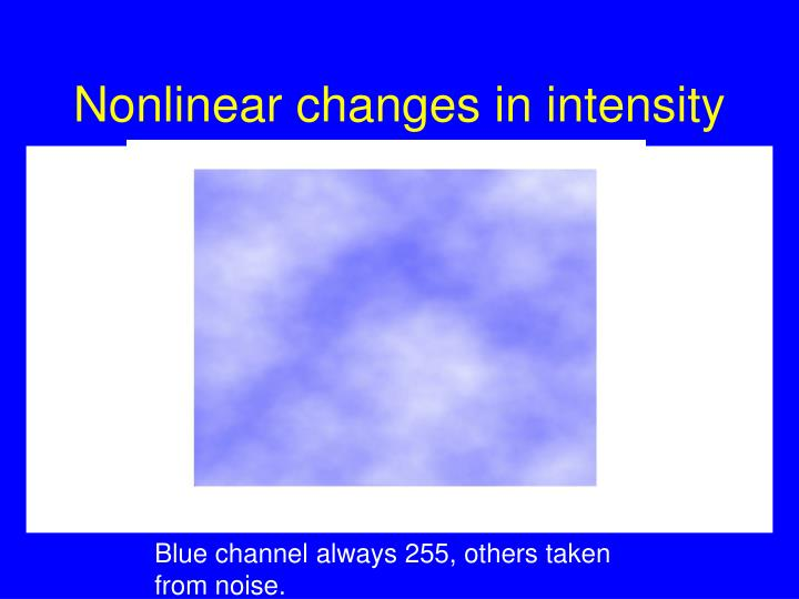 Nonlinear changes in intensity
