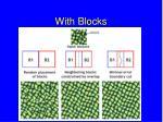with blocks