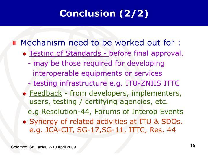 Conclusion (2/2)