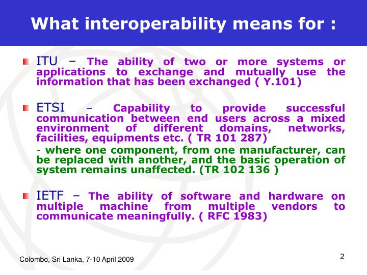 What interoperability means for